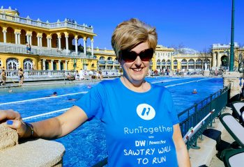 Suzanne at Szechenyi Spa in Budapest
