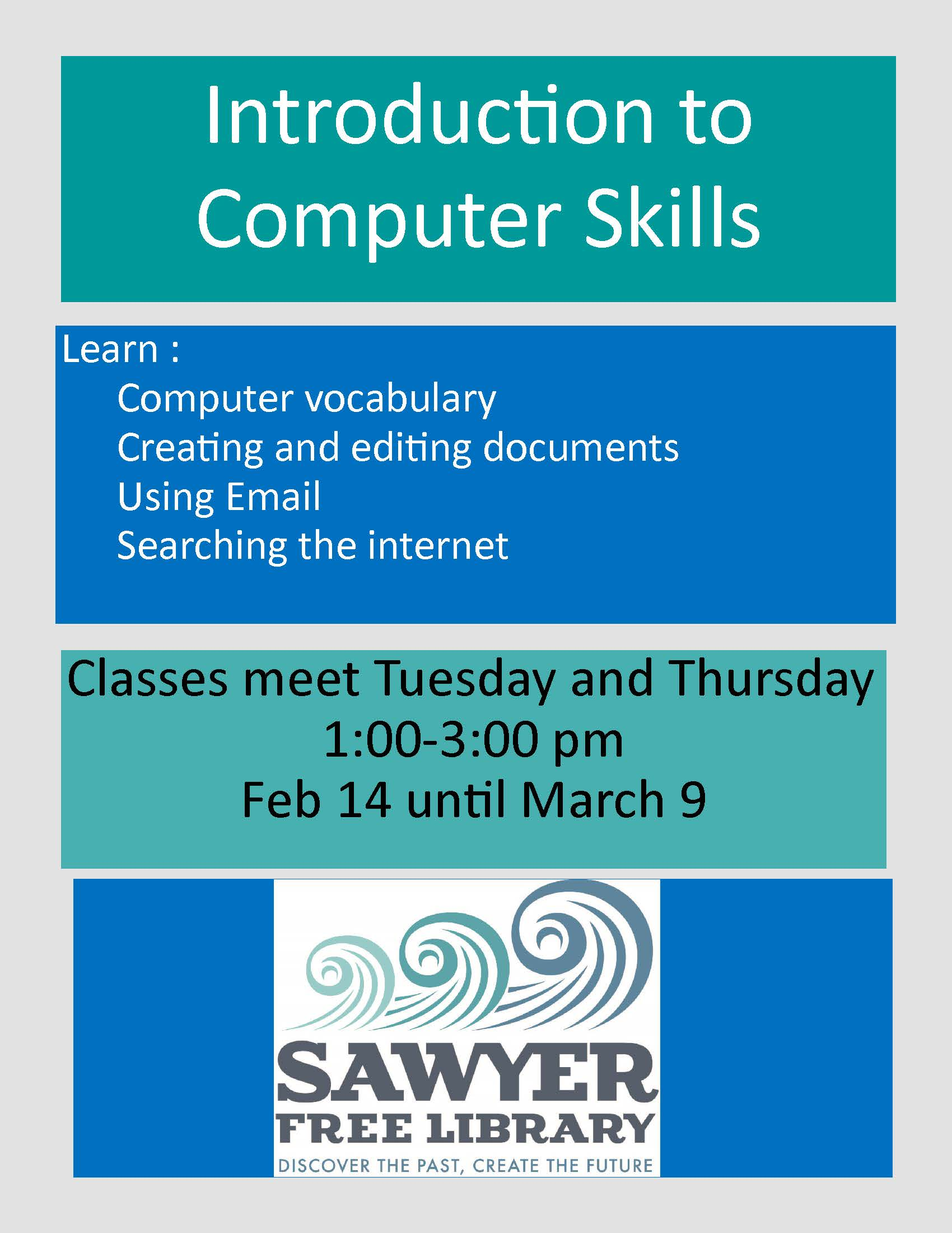 Sawyer Free Library Week Of February 27