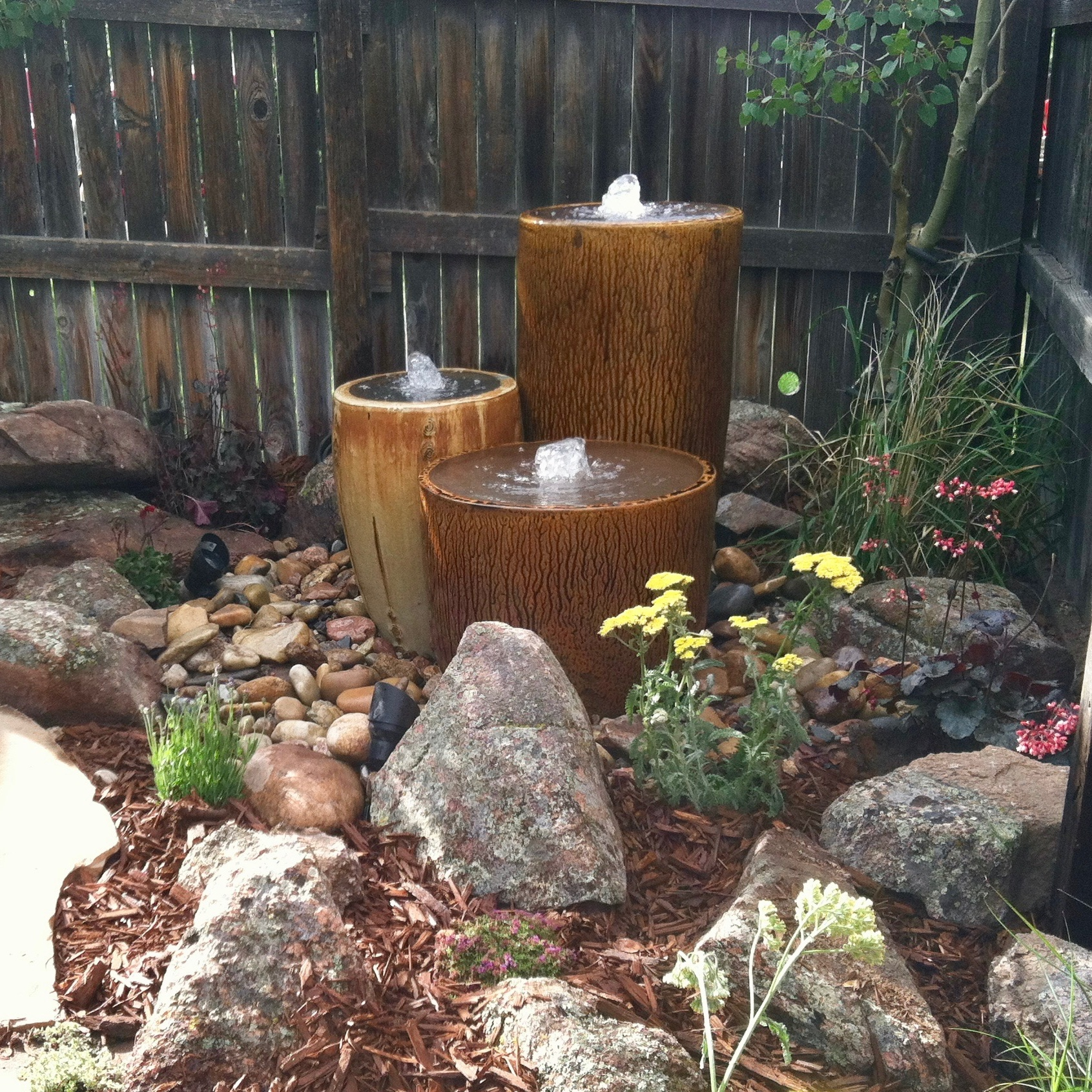 Fountain Potted Urns