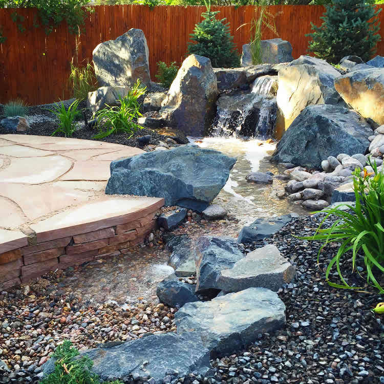 Backyard Falls Pondless Waterfall