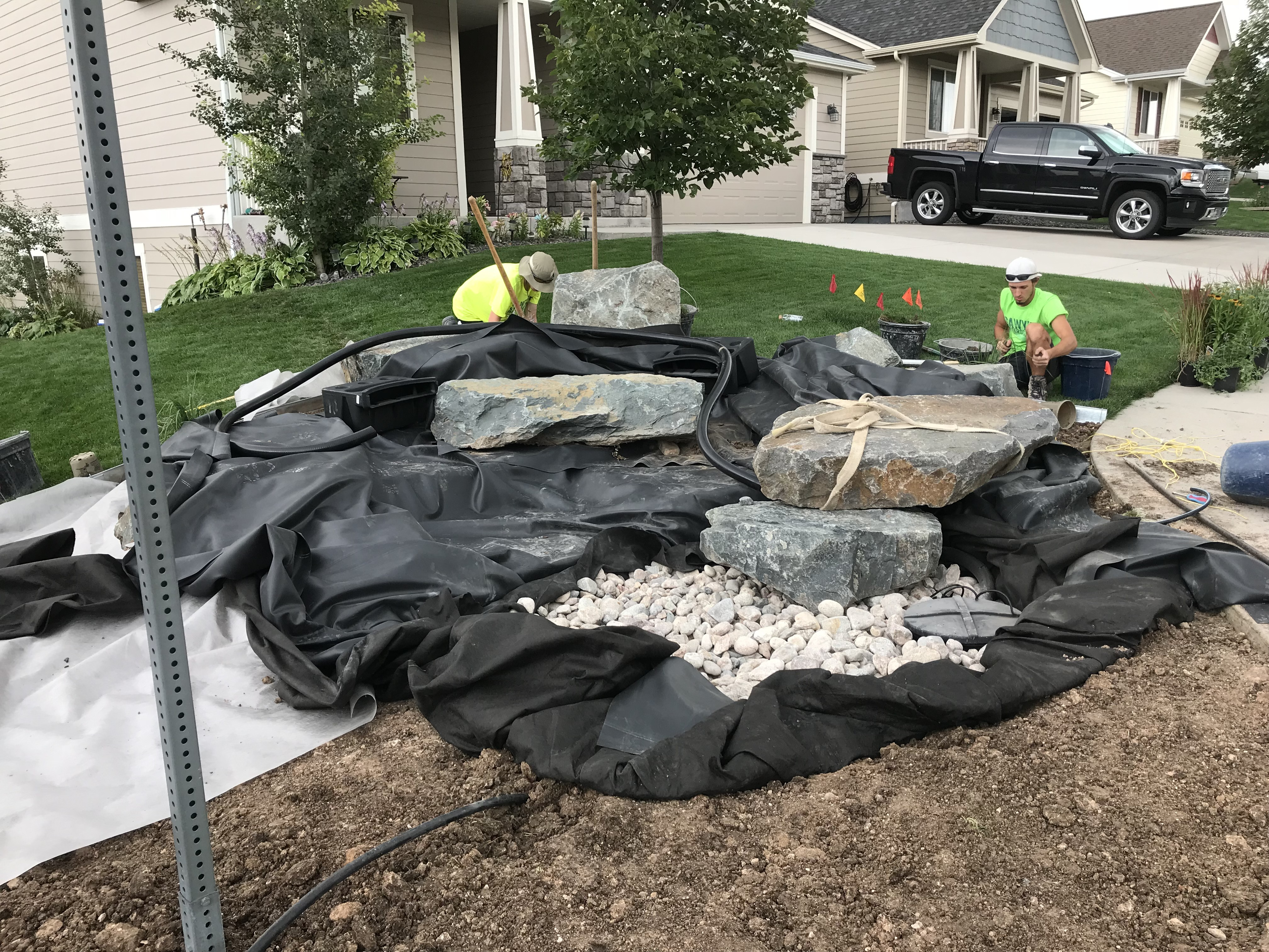 Installing a Pondless Waterfall