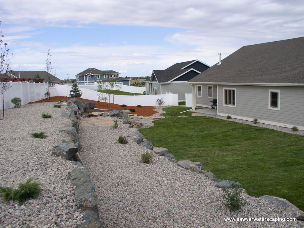 Rock Wall - Sawyer Waterscaping