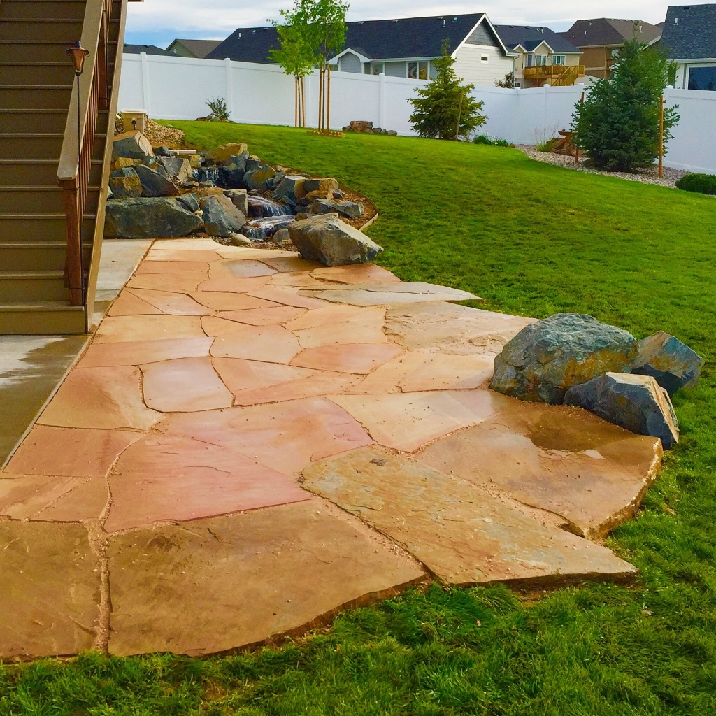 Buff Flagstone Patio