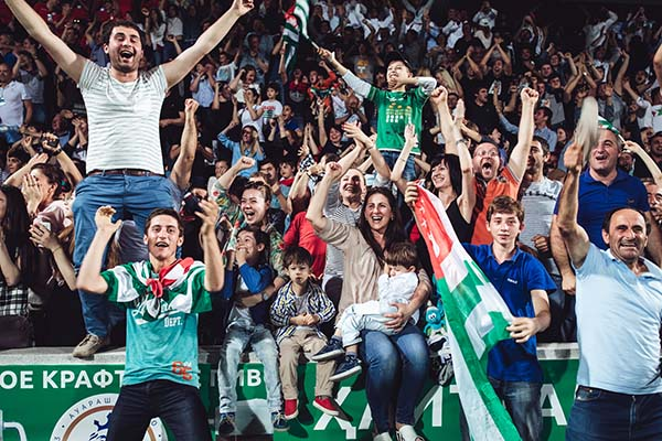 Abkhazia fans at the World Cup of Unrecognized States 2016. ©Max Avdeev
