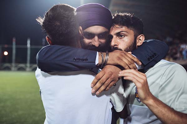 Emotions run high for members of the Panjab team. ©Max Avdeev