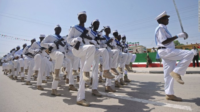 Photos: New member in family of nations? Somaliland military personnel march on independence day. The region spends heavily on its army and navy but is operating under a UN arms embargo.