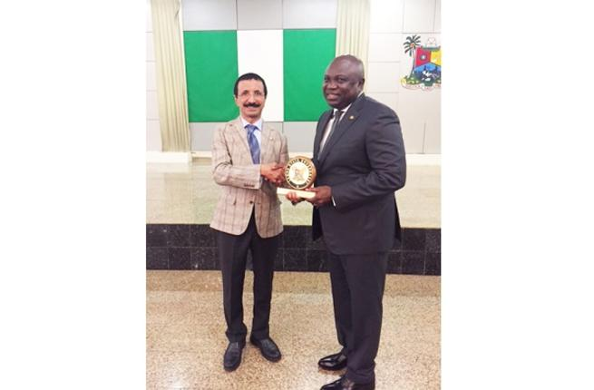 DP World Group Chairman and CEO, Sultan Ahmed Bin Sulayem Akinwunmi during his meeting with Governor of Lagos State, Akinwunmi Ambode in Nigeria recently