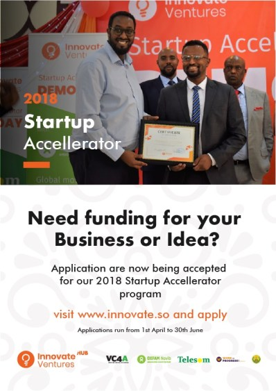 Applications Open For The Third Cycle Of Innovate Ventures Accelerator In Somaliland | Saxafi