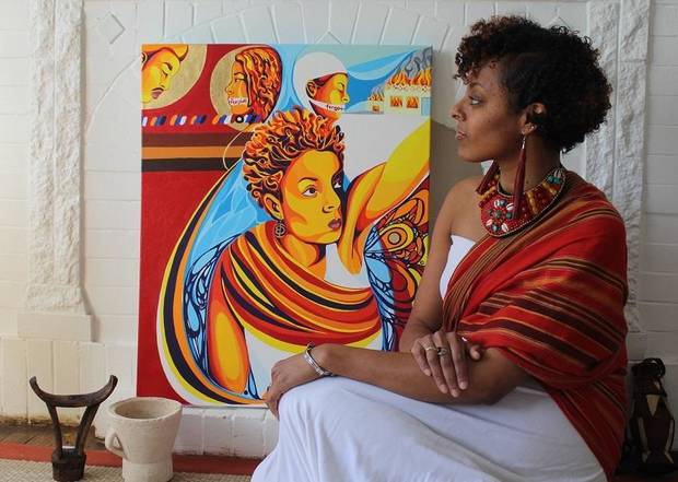 OKC Artist Ebony Iman Dallas Traces Her Father's History Back To Africa With Exhibit 'Through Abahay's Eyes'