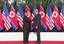 U.S.-North Korea Summit Begins With Trump-Kim Handshake