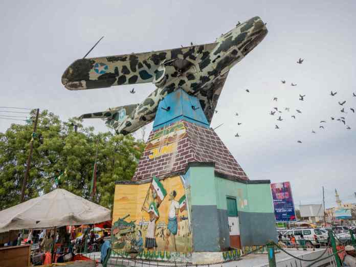 Mig Jet Fighter War Memorial In Freedom Square In Hargeisa | Saxafi