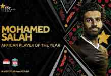Mohamed Salah Retains African Player Of The Year Trophy