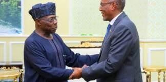 """Obasanjo """"Ilaa Imika Waxaanu Aragnay Waxyaabo Waaweyn Oo Aad Qabsateen"""""""