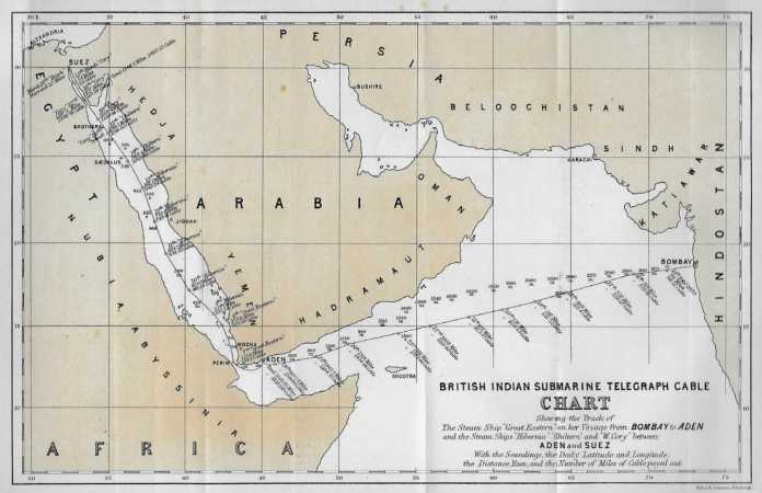 THE RED SEA LINE - The 1870 Cable From England To India