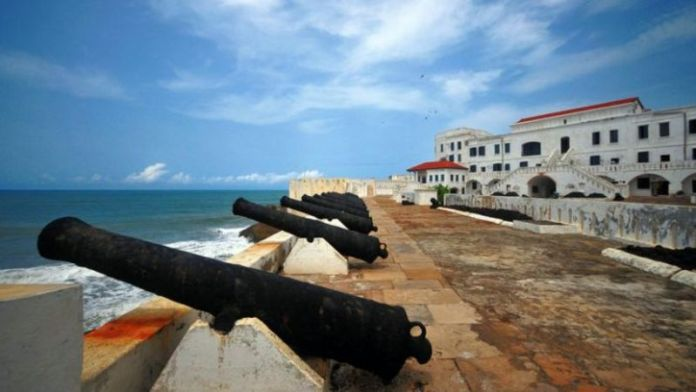 The fortified posts on the Ghanaian coast played a role in the gold trade and later the slave trade