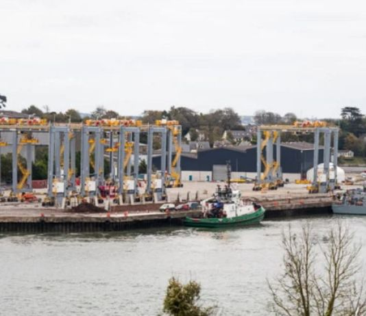 Busy Port Of Cork Assembles To Ship Eight Liebherr Cranes To Somaliland