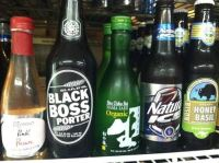 We offer a variety of beers and wines, from Sake to Natty Light.