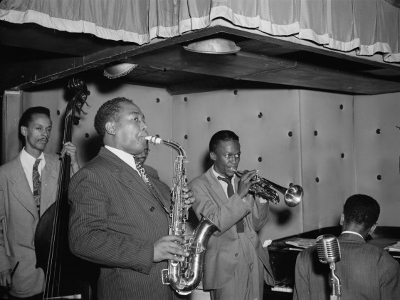 The great saxophonist, Charlie Parker with band.