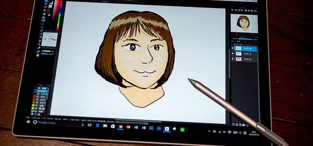 Surface Book+MediBang Paintで子供の似顔絵を描いてみました #Surfaceアンバサダー