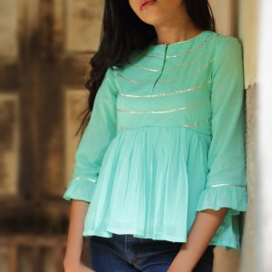 Women's High Neck MulMul Gotta Cotton Top