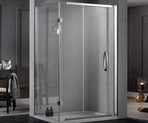 Inline frameless Shower Enclosure