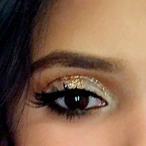 Makeup Inspiration: White and Gold Halo