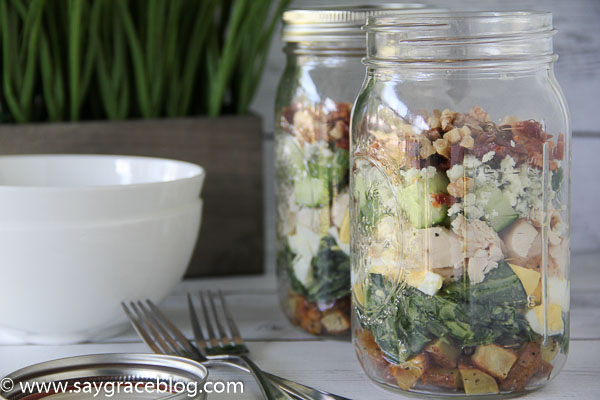 Collard Green Salad In A Jar