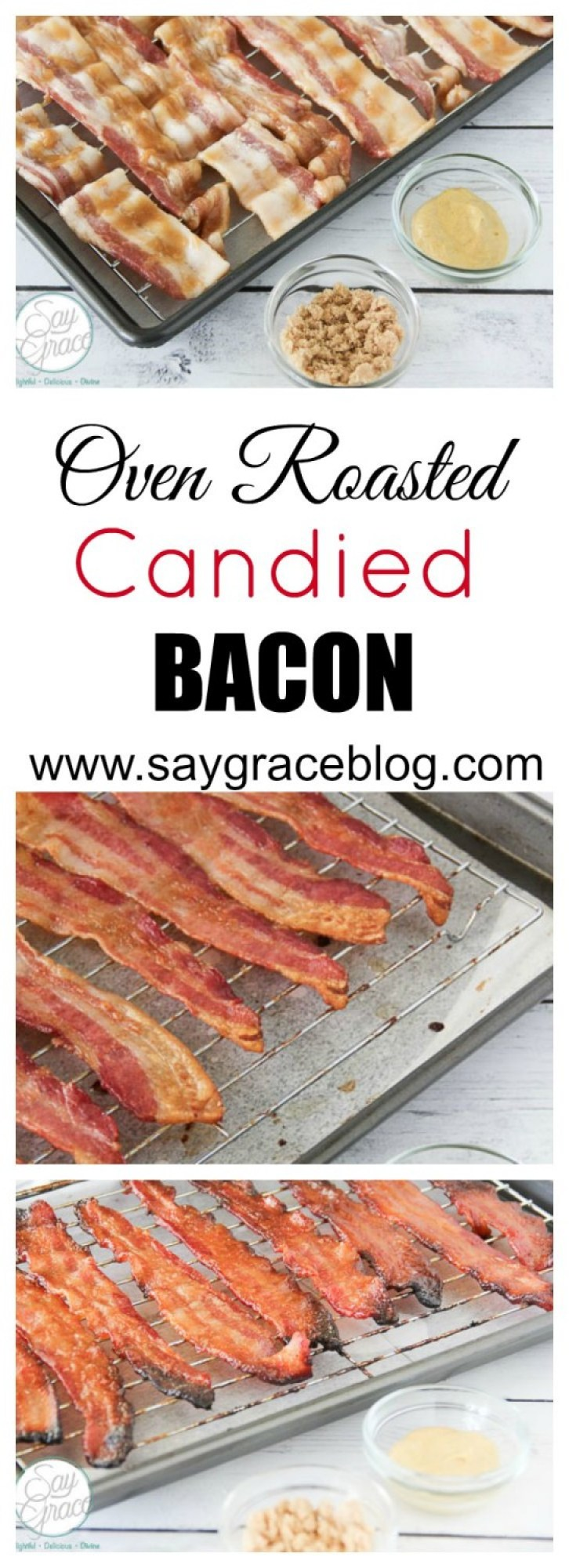 Oven Roasted Candied Bacon