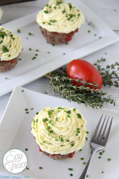 Savory Meatloaf Cupcakes