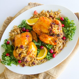 Apricot Glazed Cornish Hens & Rice Pilaf