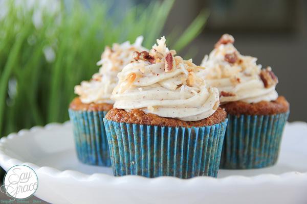Tropical Carrot Cupcakes