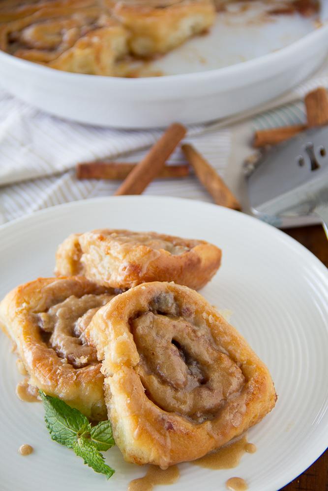 Maple Pecan Cinnamon Rolls