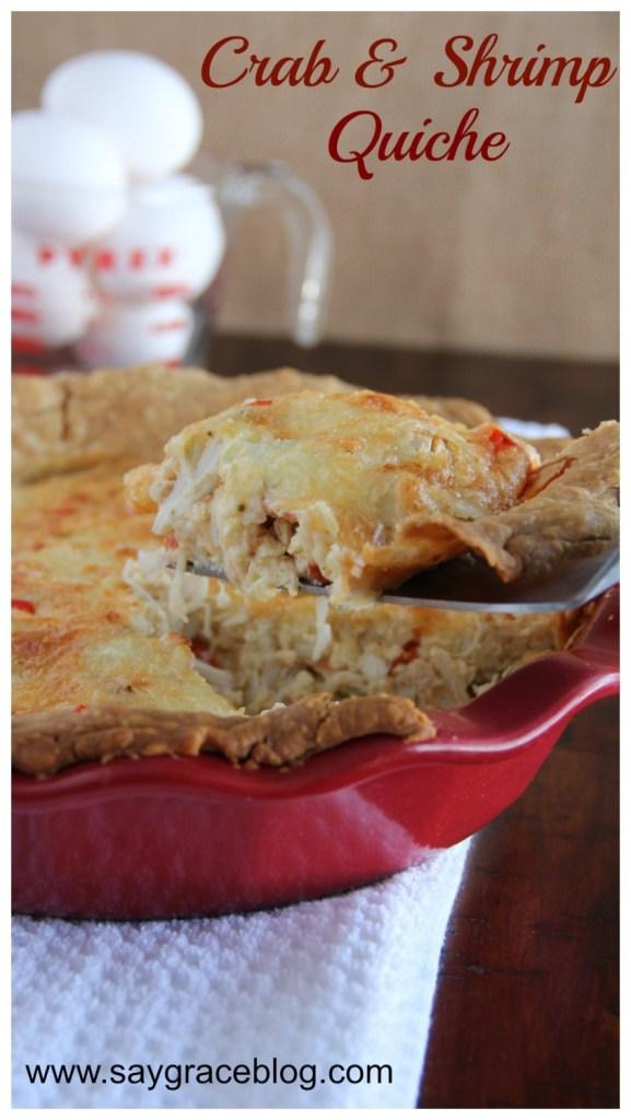 Crab & Shrimp Quiche