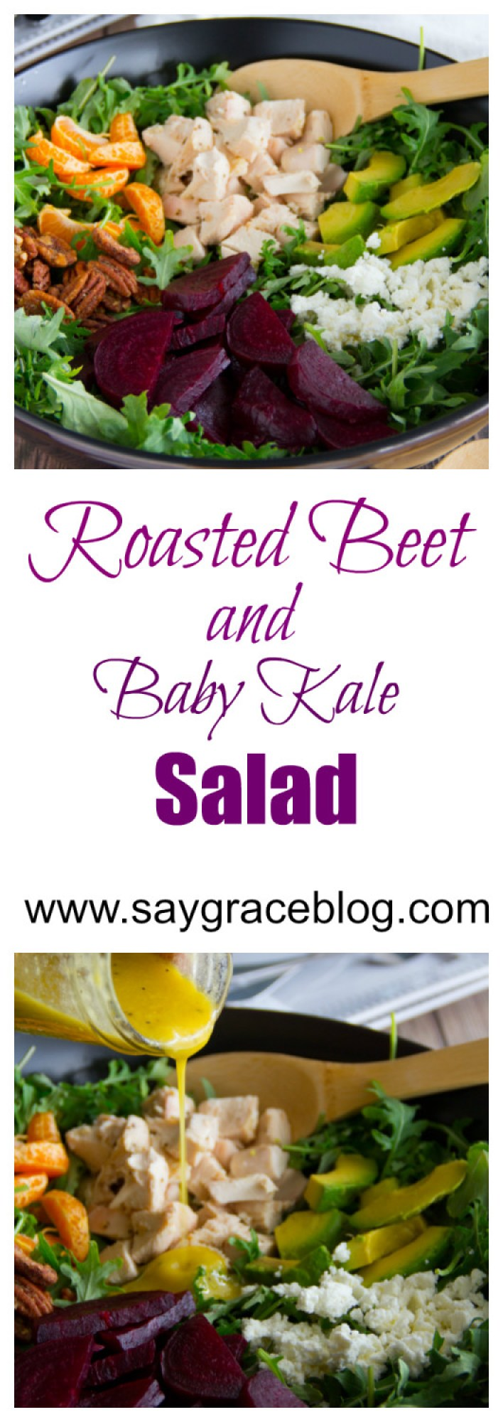 Roasted Beet & Baby Kale Salad