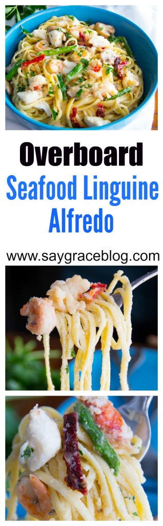 Overboard Seafood Linguine Alfredo