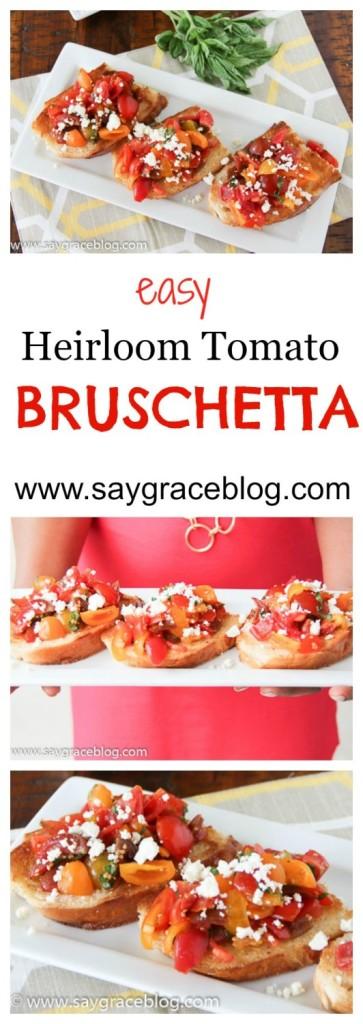 EASY HEIRLOOM TOMATO BRUSCHETTA