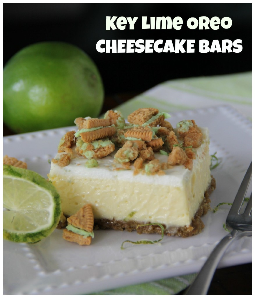 Key Lime Oreo Cheesecake Bars