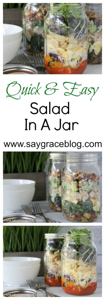 Quick & Easy Salad In A Jar