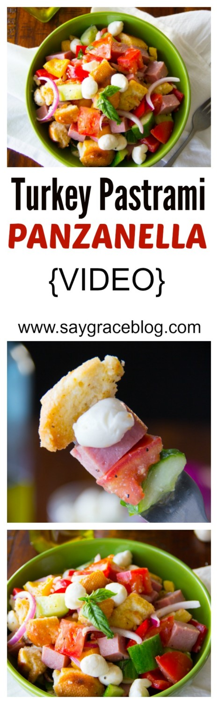Turkey Pastrami Panzanella