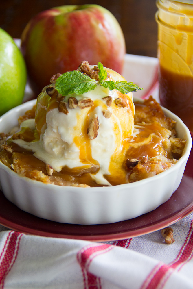 Salted Caramel Apple Dump Cake-5