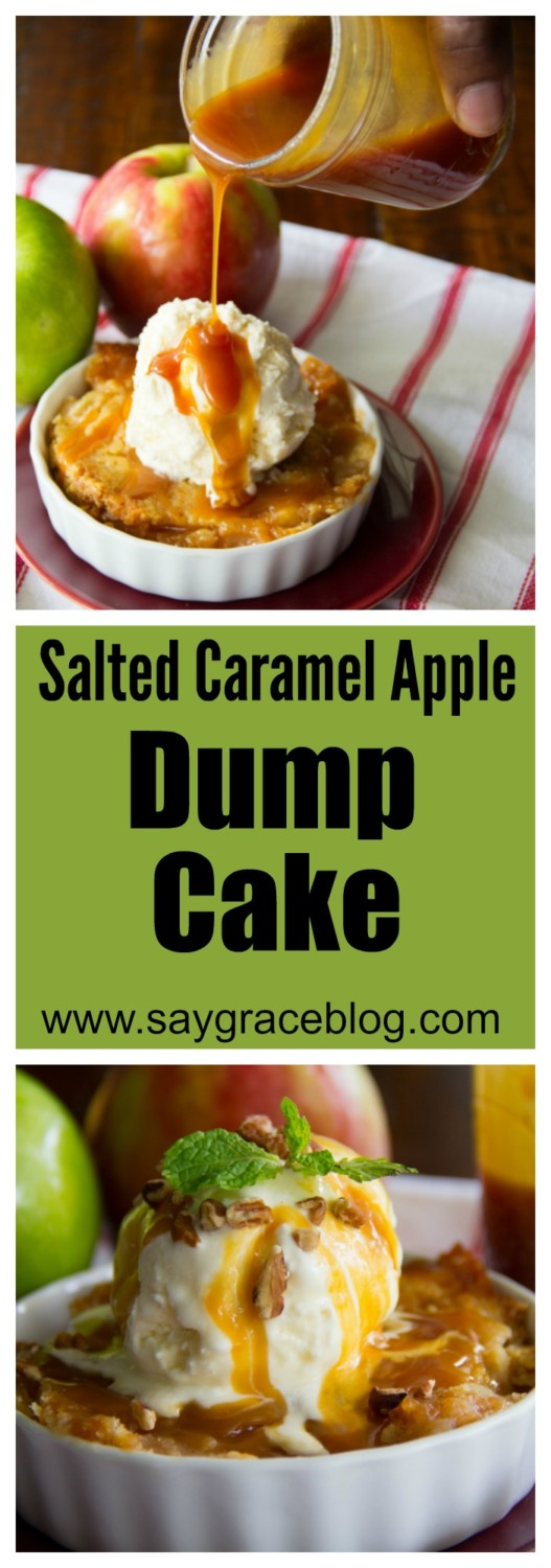Salted Caramel Apple Dump Cake