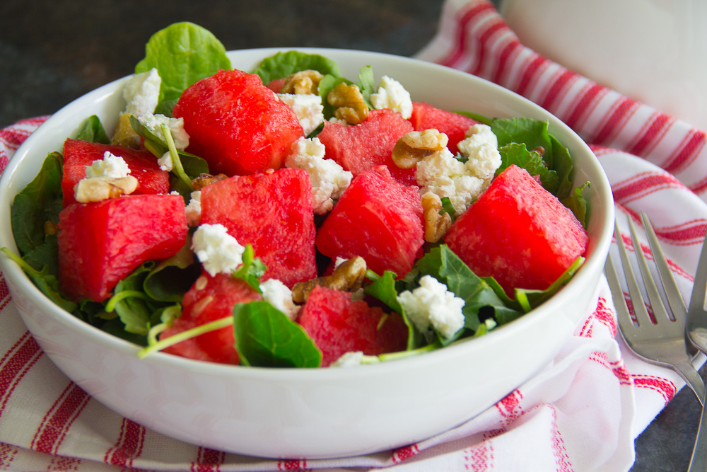 Balsamic Watermelon & Kale Salad