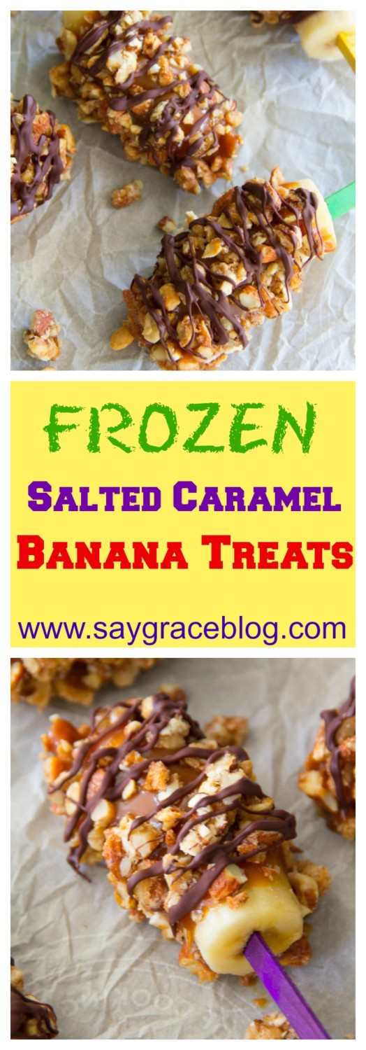 Frozen Salted Caramel Banana Treats