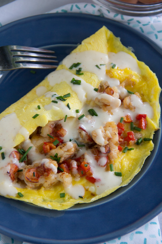 Lobster Omelette with a Mornay Sauce | Say Grace
