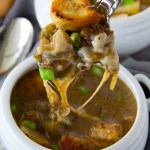 Homemade Philly Cheesesteak Soup