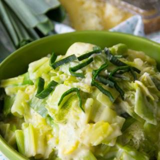 Creamed Leeks Recipe {Gluten Free}
