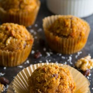 Paleo Morning Glory Muffins {Gluten Free, Grain Free, Dairy Free}