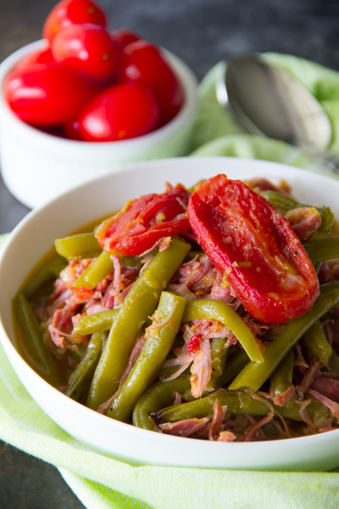 Southern Style Green Beans with Smoked Turkey