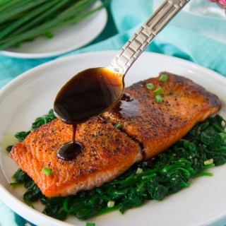 Pan-Seared Balsamic Glazed Salmon