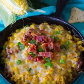 Cheesy Fried Corn Dip Recipe {Gluten Free}